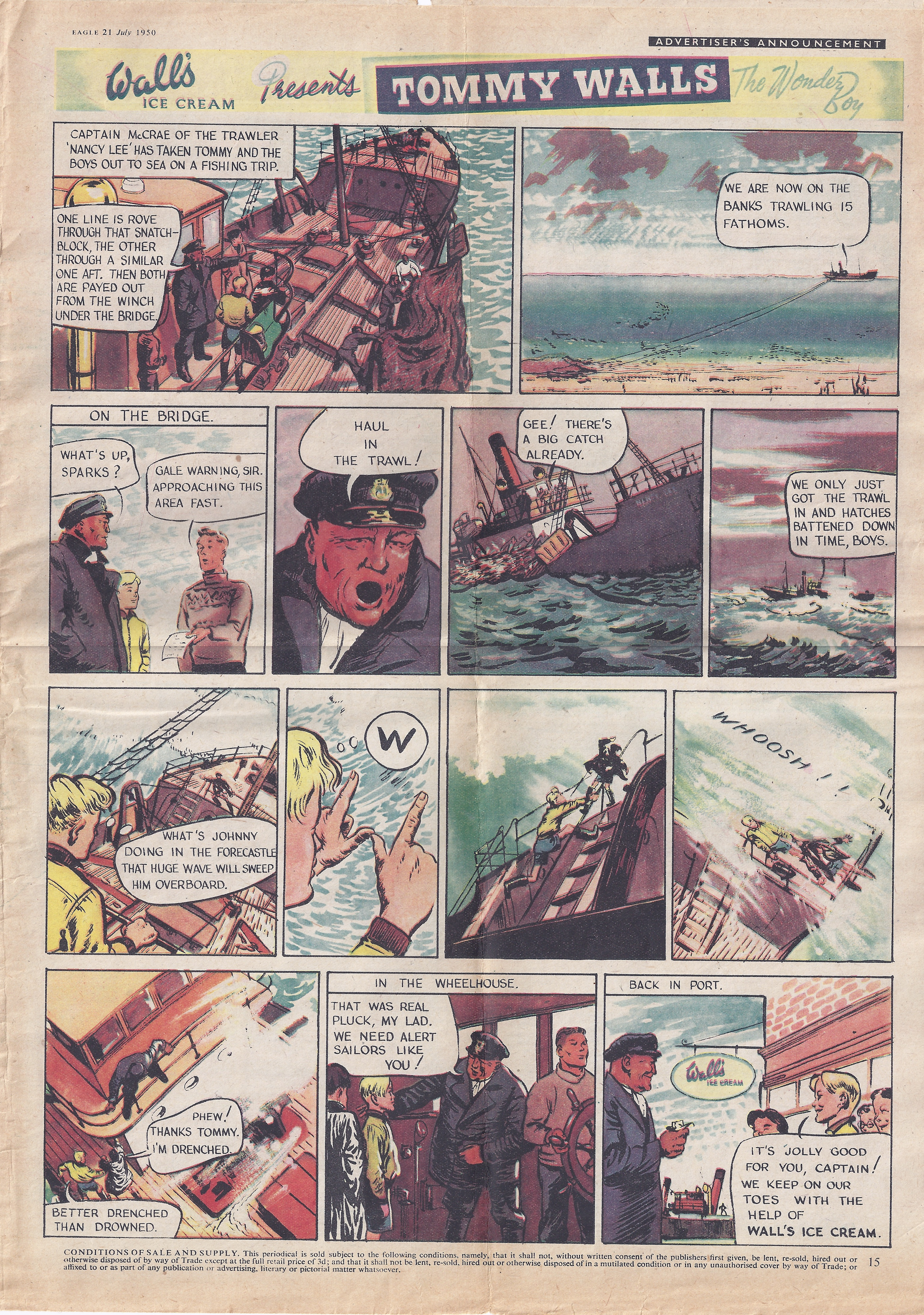 Tommy Walls comic page from Eagle, November 1950