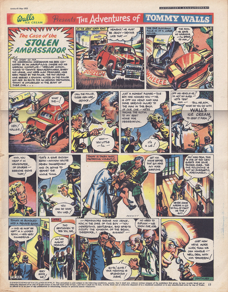 Tommy Walls comic page from Eagle, May 1953.